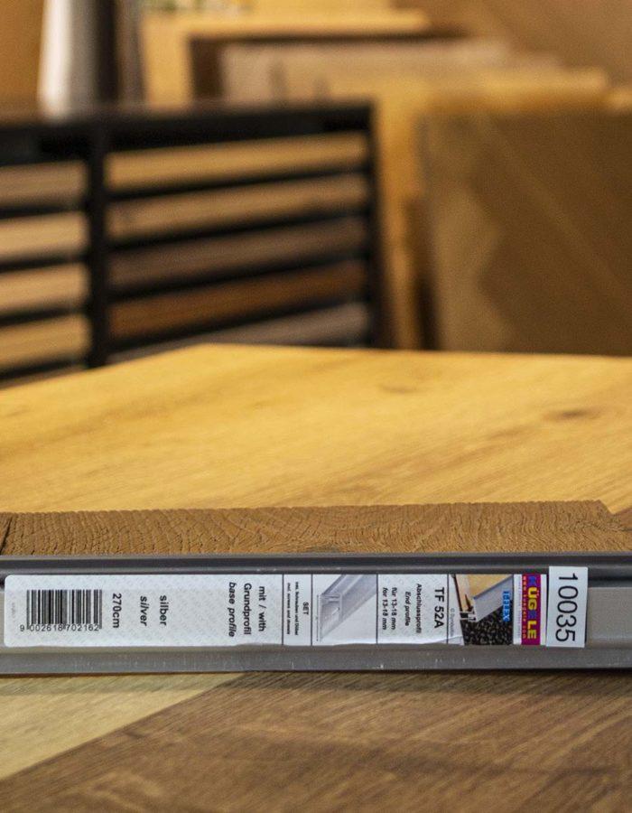 Kügele Abschlussprofil Set T-FlexVerlegesystem für Vinyl