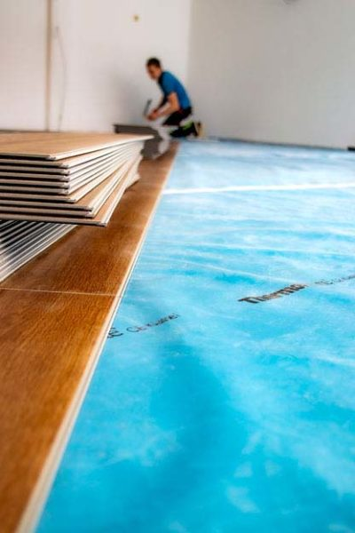 Thermowhite DampfbremsfolieDampfbremsfolie/Trennschichtfolie  für Vinyl und Parkett Böden