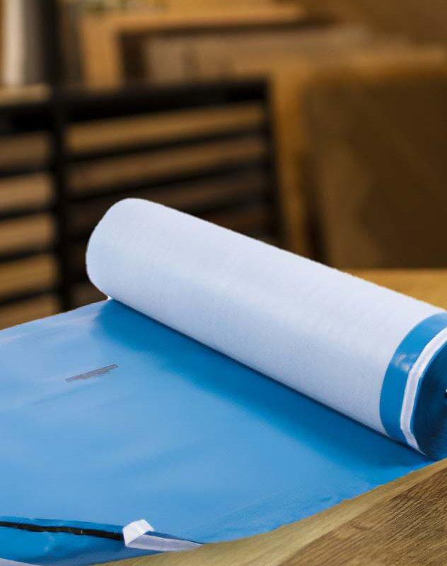 Gefitas ParkettunterlageKaschiert mit Überstand und Klebestreifen  Gleicht Unebenheiten aus Wirkt Schalldämmend  Für Fußbodenheizung geeignet  Schutz vor Restfeuchte aus dem Estrich für Parkett