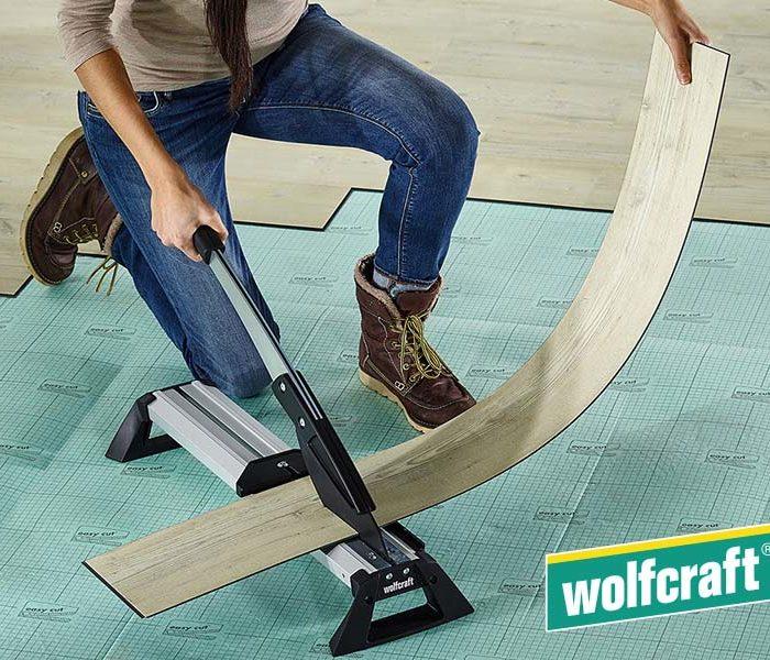 Wolfcraft Vinyl- und Laminatschneider VLC 800 Anwendung