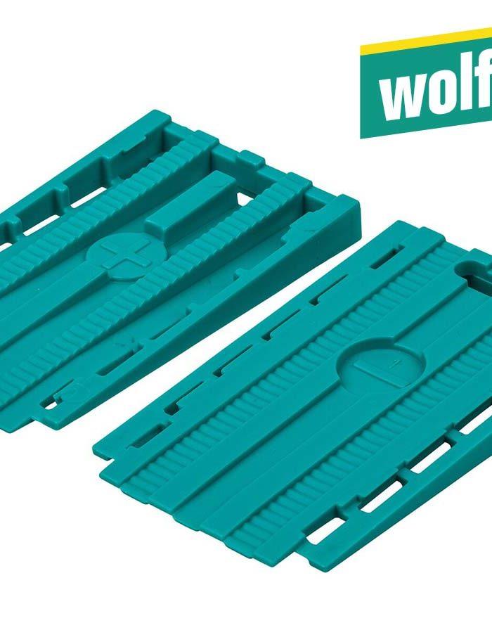 Wolfcraft Universal-Keile 30 Stück 35 x 6 x 60 mmin 2 Richtungen zusammenschiebbar zum Einsatz als Keil oder Abstandhalter – vielseitig einsetzbar.