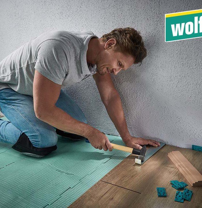Wolfcraft Verlege-Set 22-tlg. Anwendung
